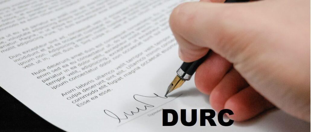 DURC non regolare: cosa fare