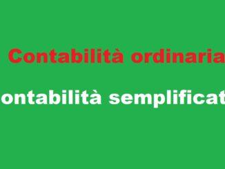 contabilità ordinaria e semplificata: differenze
