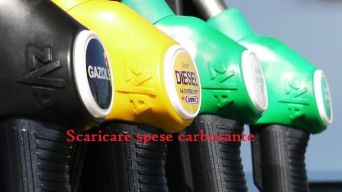 Scaricare spese carburante
