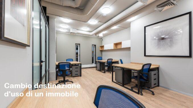 Cambio destinazione d'uso di un immobile - Ufficio Tecnico comunale