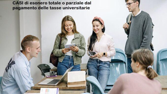 esonero tasse universitarie totale o parziale: a chi ci si rivolge