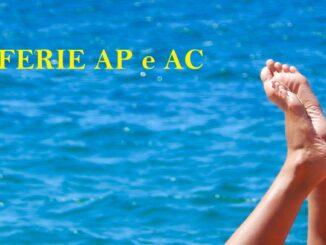 Cosa sono e come funzionano le ferie AP e AC